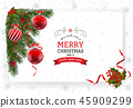 Christmas And New Year Greeting Card 45909299
