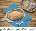 在烤箱烘烤的全麥麵包 45909645