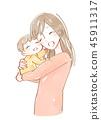 抱著嬰孩的婦女的例證 45911317