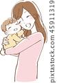 抱著嬰孩的婦女的例證 45911319