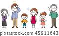 三代家庭感冒身体状况 45911643