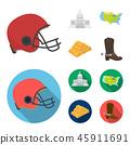American football helmet 45911691