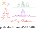 Geometric Christmas card, vector design elements 45912404