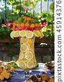 table set for a garden party  45914376