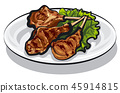 grilled lamb chops 45914815