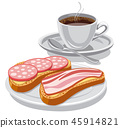 coffee and sandwiches 45914821