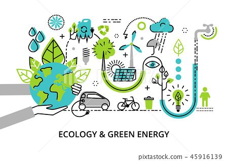 infographic concept of ecology problem 45916139
