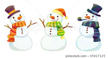 눈사람 세트 2 (텍스처) 45917125