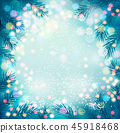 Holiday background with a christmas tree  45918468