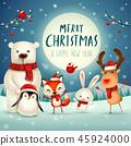 围巾 野生生物 圣诞节 45924000