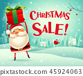 Christmas sale! Santa Claus in the snow scene. 45924063