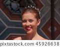 Happy beautiful bride laughing close up 45926638