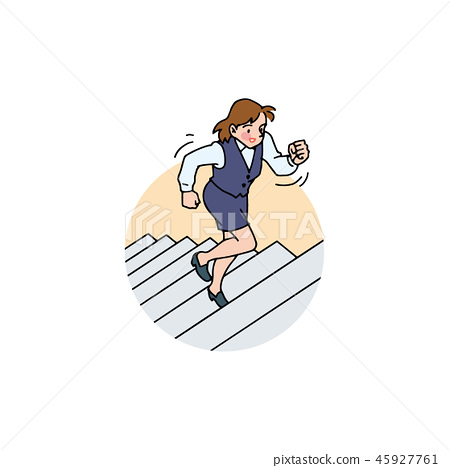 OL who runs up the stairs in good spirits 45927761
