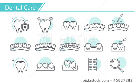 Dental care concept Icon 45927892