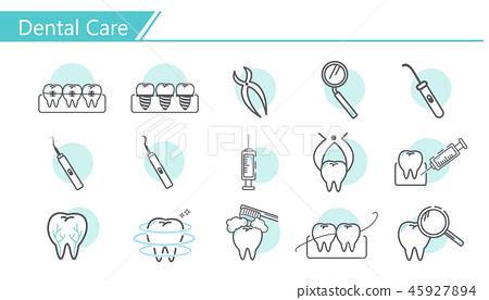 Dental care concept Icon 45927894
