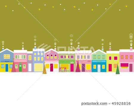 城市景觀聖誕星 45928816
