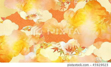 總和 - 背景 - 日本紙 - 秋天 - 秋天的顏色 - 金色 45929023