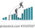 business, graph, businessman 45930587