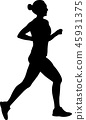 marathon runner silhouette 45931375