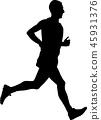 marathon runner silhouette 45931376