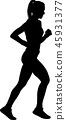 marathon runner silhouette 45931377