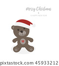 bear, teddy, christmas 45933212