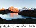 湖泊 湖 山峰 45933437