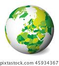 globe, map, vector 45934367