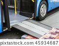 platform for wheelchairs in the cabin of a modern and comfortabl 45934687