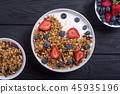 Chia yogurt with granola 45935196