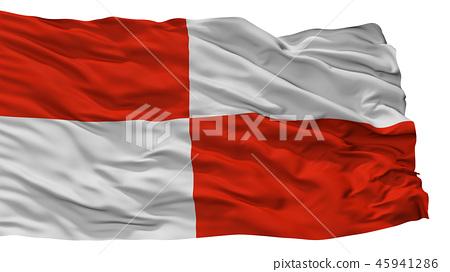 Potosi City Flag, Bolivia, Isolated On White 45941286