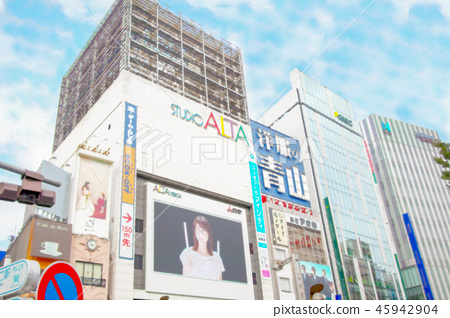 View from Shinjuku Station East Exit 45942904
