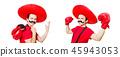 hat, boxer, boxing 45943053
