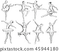 Classical ballet woman-dancers 45944180