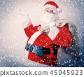 Funny Santa Claus with sack  45945923