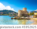 海 意大利 城堡 45952625