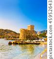 海 意大利 城堡 45952643