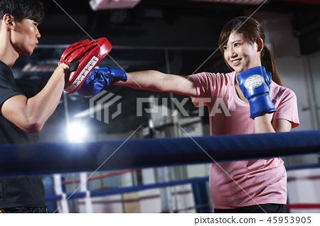 拳擊踢拳擊女人 45953905