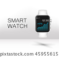 Stainless silver smart watch 45955615