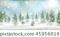 Christmas winter landscspe pine tree snow 45956019