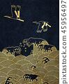 波動 鶴 日式風格 45956497