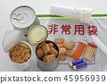 재해에 대비 한 비상 식량 및 비품 45956939