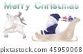 黑色圣诞老人骑雪橇 45959068