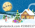 Merry christmas holiday xmas celebration. 45966537