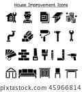 House improvement icon set 45966814