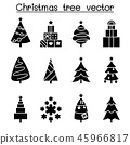 Christmas tree icon set in flat style 45966817