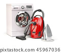 Home appliances. Group of vacuum cleaner,  iron 45967036