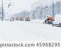 Snow plow truck at work 45968295