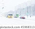 City road in winter 45968313