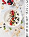 Yogurt bowl with fresh berries 45969042